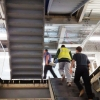 stairs from Bradfields Mezzanine to two upper floors during installation