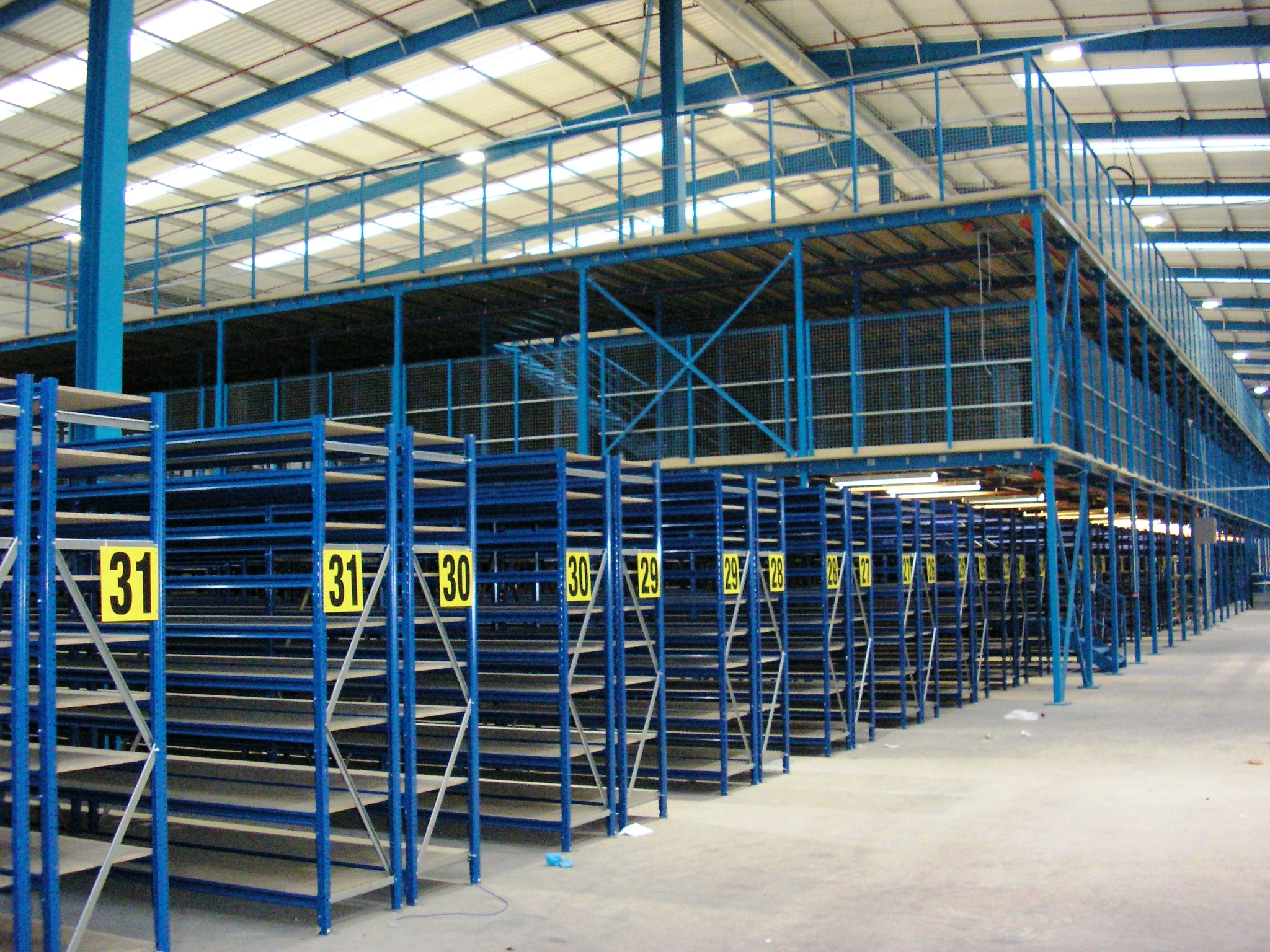 Mezzanine Storage Space